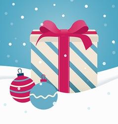Retro Christmas gift vector image vector image