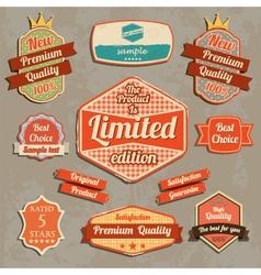 Retro design label set vector image
