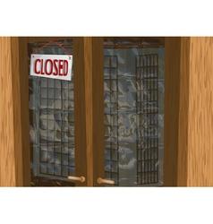 shop closed vector image