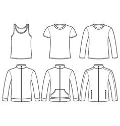Singlet T-shirt Long-sleeved T-shirt Sweatshirts a vector image vector image