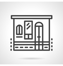 Storefronts simple line icon Grocery vector image vector image
