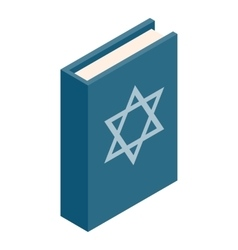 The Book of Judaism isometric 3d icon vector image