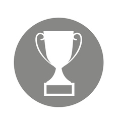 trophy first place isolated icon vector image