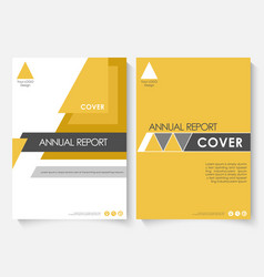 yellow marketing cover design template for annual vector image vector image