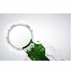 abstract background with green technological vector image vector image