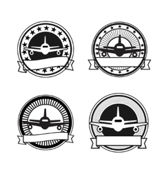 Air travel badges vector image vector image