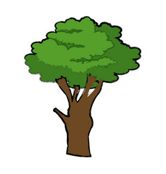 Cartoon tree plant natural botanical ecology vector