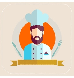 Chef icon flat vector image vector image