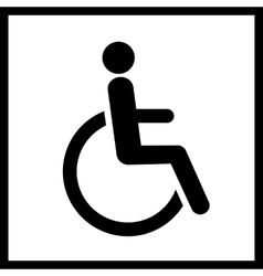 Disability icon isolated vector image vector image