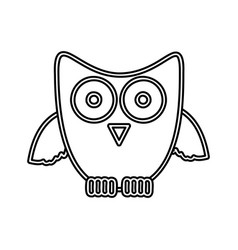 figure sticker owl icon vector image vector image