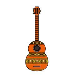 guitar instrument design vector image