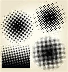 Halftone dots set vector