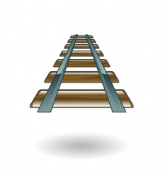 rail illustration vector image vector image