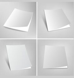 Set of blank magazines covers vector image vector image