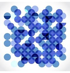 Transparent circles vector image vector image