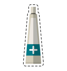 Cartoon ointment cream tube medicine vector