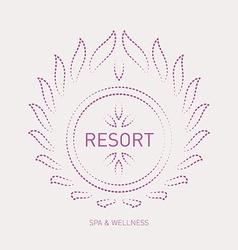 Floral logo template for wellness salon Spa resort vector image
