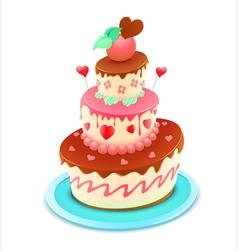 Romantic cake vector
