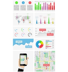 Ui elements of infographics and user interface vector image vector image