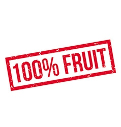100 percent fruit rubber stamp vector