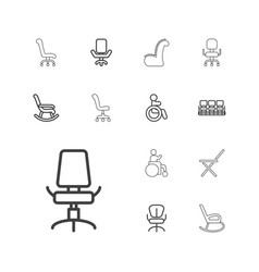 13 armchair icons vector