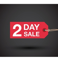 2 day sale sign vector image