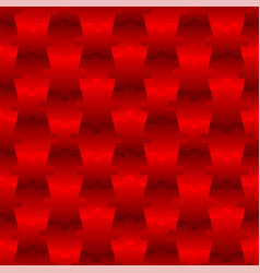 3d jigsaw tile seamless pattern red 001 vector image