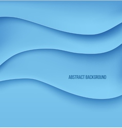 Abstract blue paper layers background shadow vector