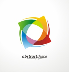 abstract colorful symbol layout design vector image