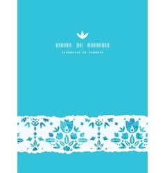 Abstract Flower Damask Vertical Torn Seamless vector image