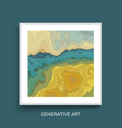abstract landscape background mosaic cover design vector image