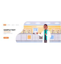 African american male doctor pharmacist modern vector