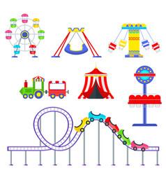 Amusement park set vector