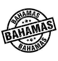 Bahamas black round grunge stamp vector