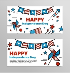 banners for American Independence Day vector image