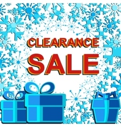 Big winter sale poster with CLEARANCE SALE text vector image
