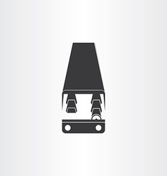 Black bus icon design vector