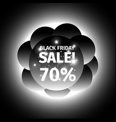 Black friday banner in the form of cloud of balls vector