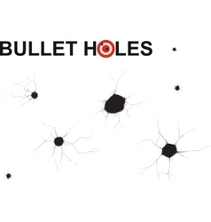 bullet holes doodle vector image
