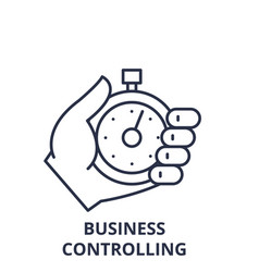 business controlling line icon concept business vector image