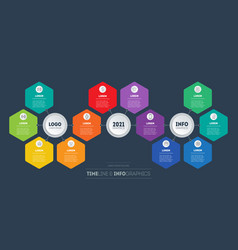 business presentation concept with 12 parts vector image