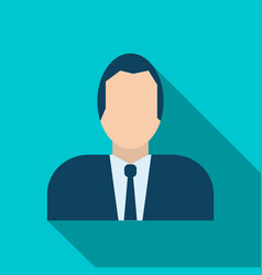 businessman avatar icon in flat style vector image