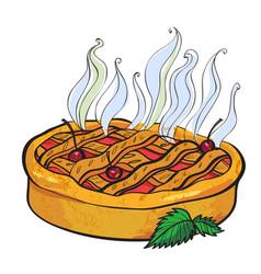 cartoon image of pie vector image