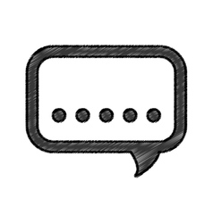 Chat bubble symbol vector