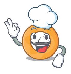 Chef onion ring character cartoon vector