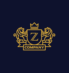 Coat arms letter z company vector