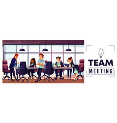 company business team working in office vector image
