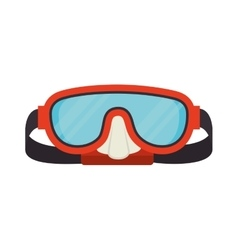 Dive mask glasses snorkel icon graphic vector