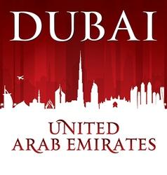 Dubai UAE city skyline silhouette vector