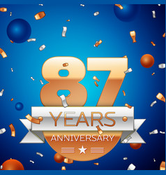 Eighty seven years anniversary celebration design vector